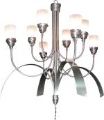 Pendant bespoke aluminium light fixture s020