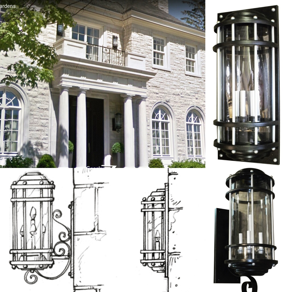 Gothic outdoor lighting fixture