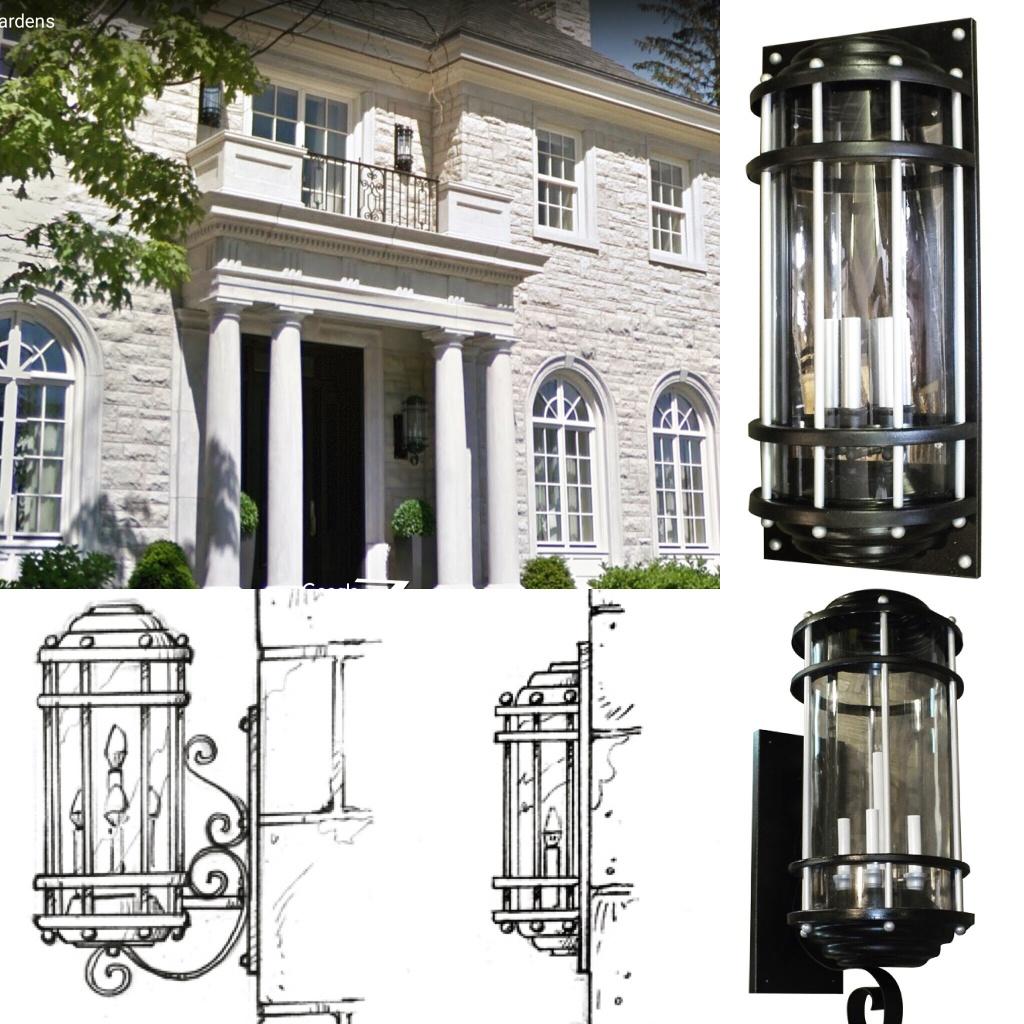 Gothic outdoor lighting fixture